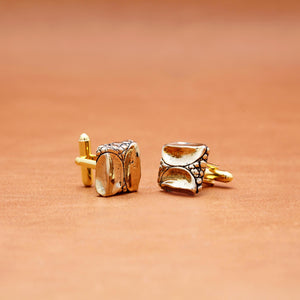 CROCODILE PATTERN CUFFLINKS (YELLOW)