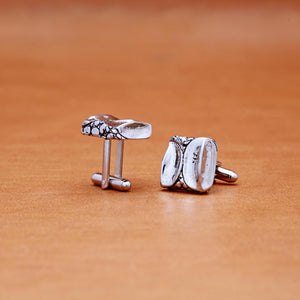CROCODILE PATTERN CUFFLINKS (WHITE)