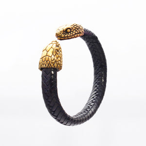 BRAIDED CUFF WITH SNAKE HEAD