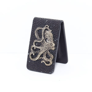 EXOTIC MONEY CLIP WITH SILVER OCTOPUS