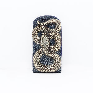 EXOTIC MONEY CLIP WITH SILVER SNAKE