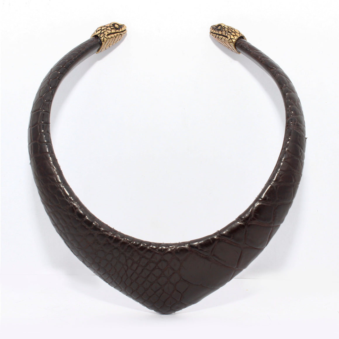 PYRAMID CROCODILE CHOKER WITH CHAMELEON CAPS