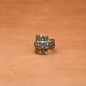 OVERLAP LIZARD PATTERN RING (YELLOW)
