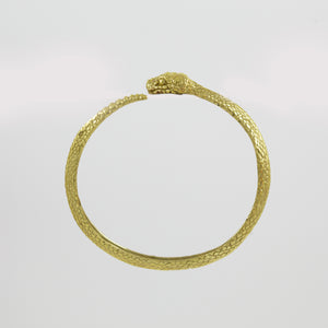 RATTLE SNAKE BANGLE (YELLOW BRASS)