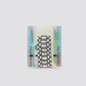 EXOTIC SKIN PATTERN MONEY CLIP (WHITE)