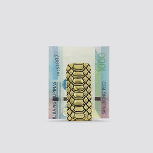 EXOTIC SKIN PATTERN MONEY CLIP (YELLOW)