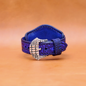 LIZARD WATCH STRAP IN INDIGO 22MM LUG