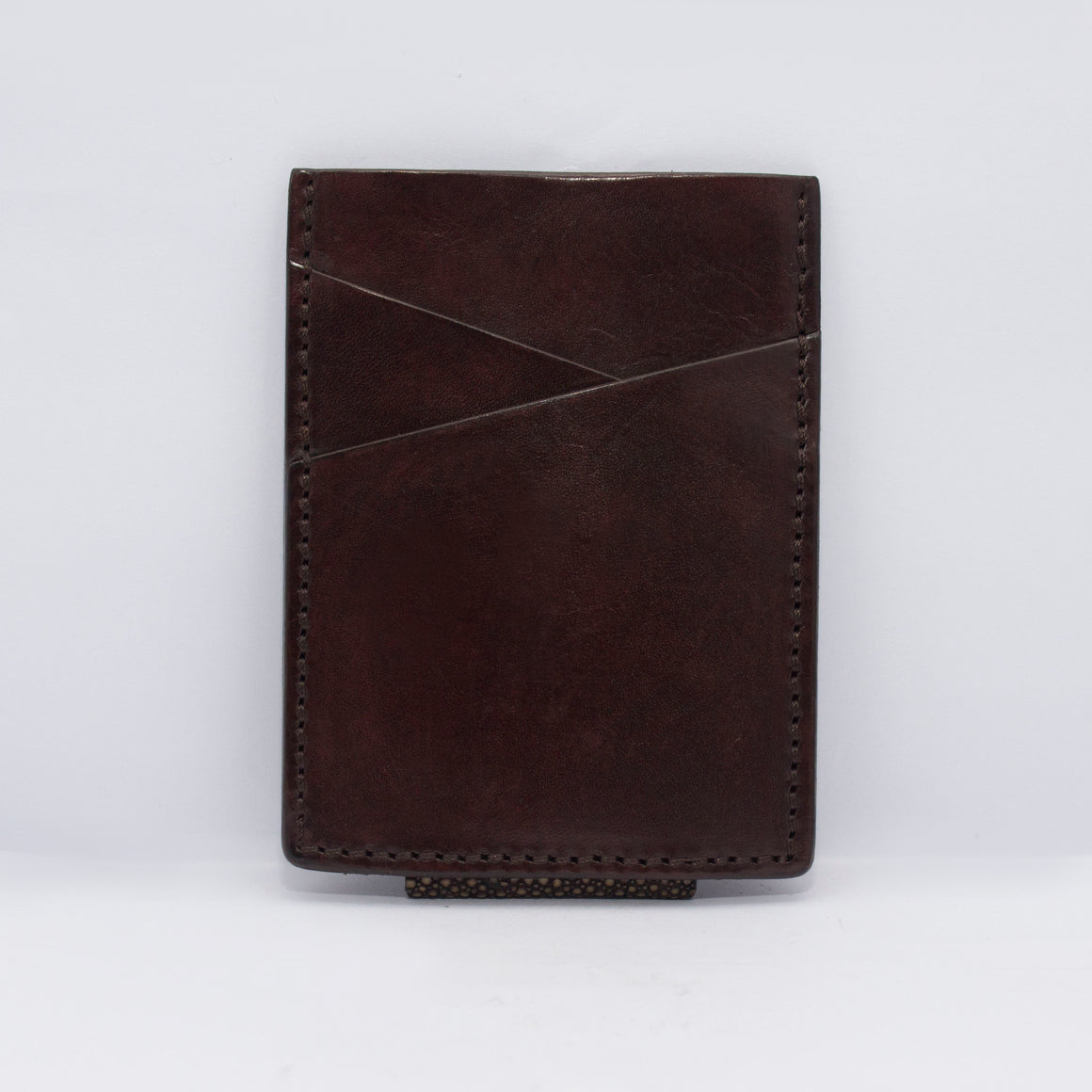 STINGRAY MONEY CLIP WALLET CARD IN DRAK BROWN