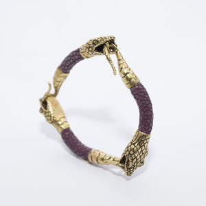 TRIPLE SNAKE HEAD STINGRAY BRACELET