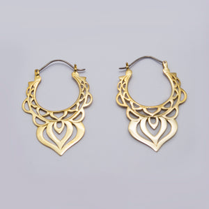 YELLOW BRASS EARRINGS