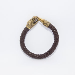 CHAMELEON HEAD LEATHER BRACELET