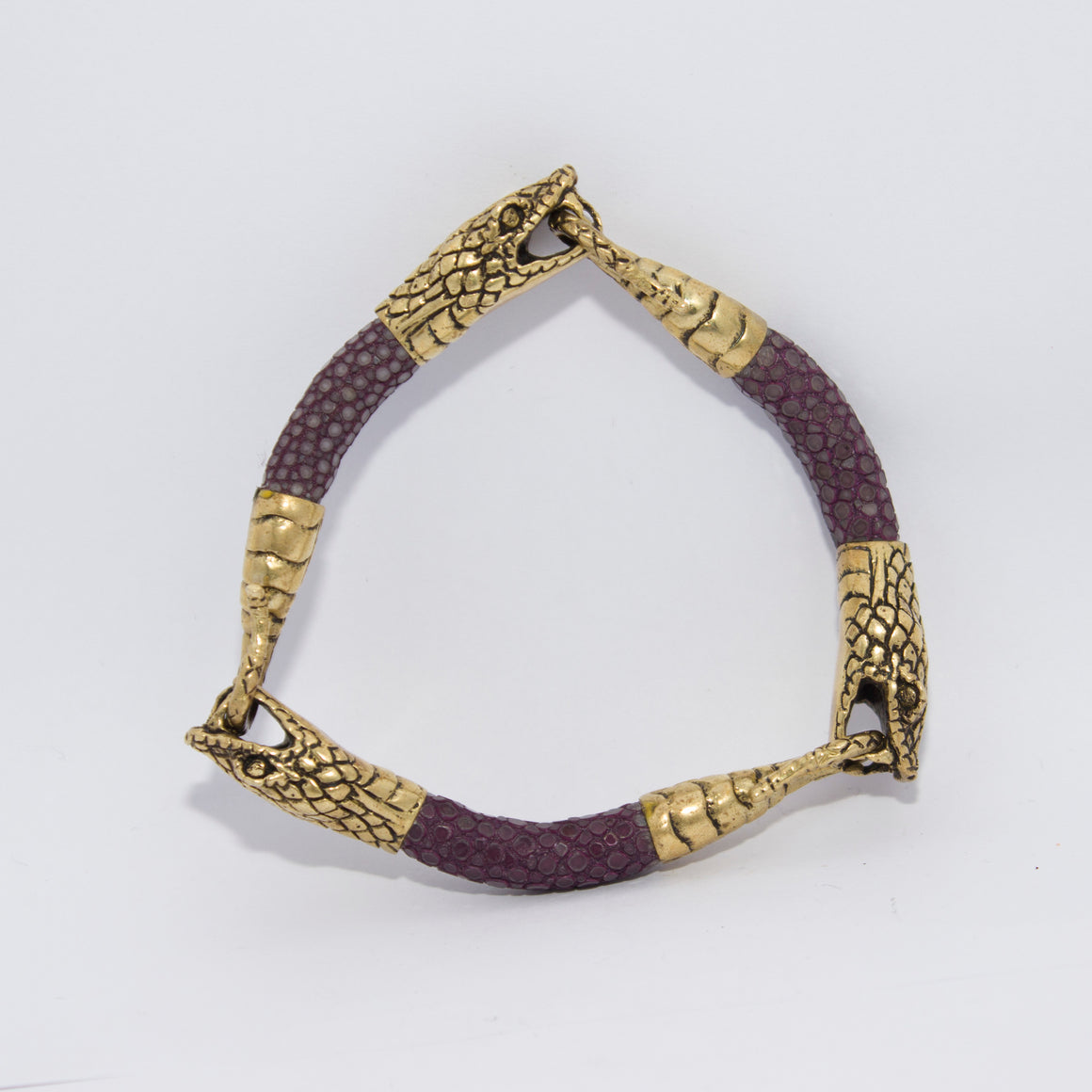 TRIPLE SNAKE HEAD EXOTIC BRACELET