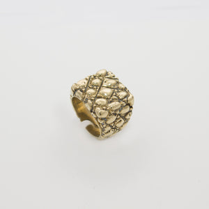 SQUARE SHAPE IGUANA PATTERN RING