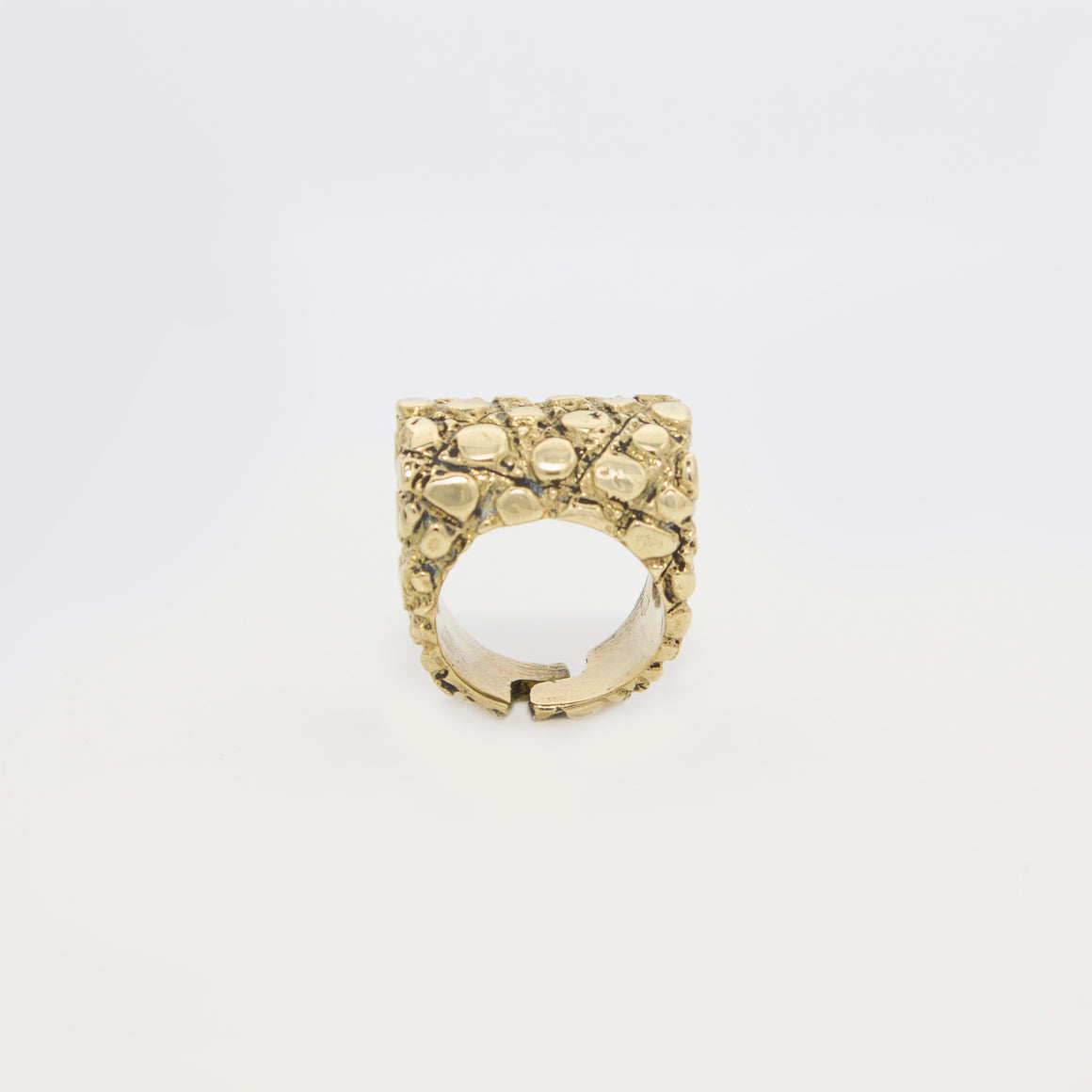 TUBE SHAPE IGUANA PATTERN RING