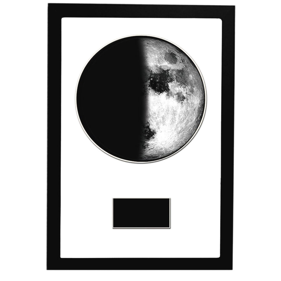 "First Quarter 12"" x 18"" Moon Phase Art"