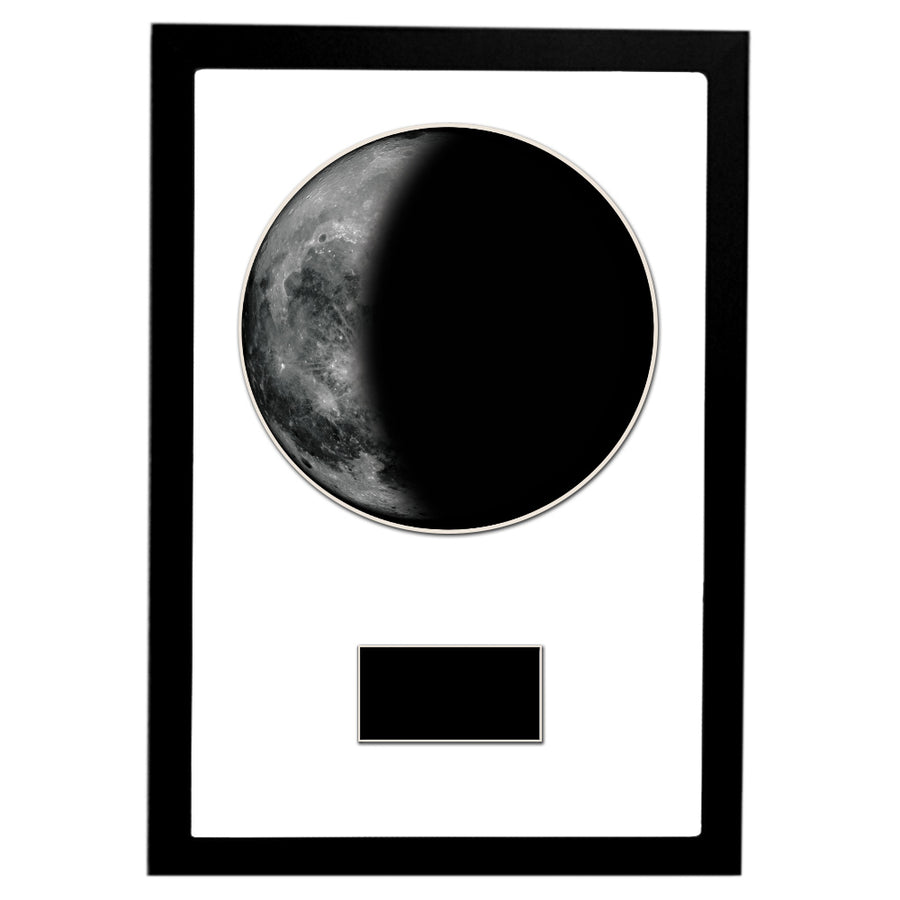 "Waning Crescent I 12"" x 18"" Moon Phase Art"
