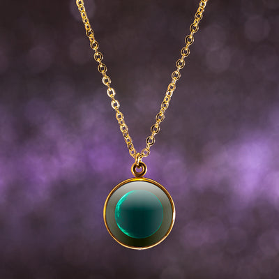 Waning Crescent III Gilded Luna Necklace