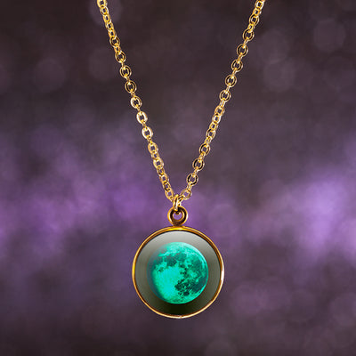 Waning Gibbous I Gilded Luna Necklace