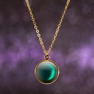 Waxing Crescent II Gilded Luna Necklace