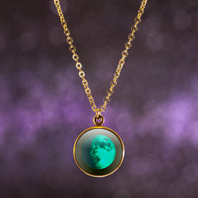 Waxing Gibbous I Gilded Luna Necklace