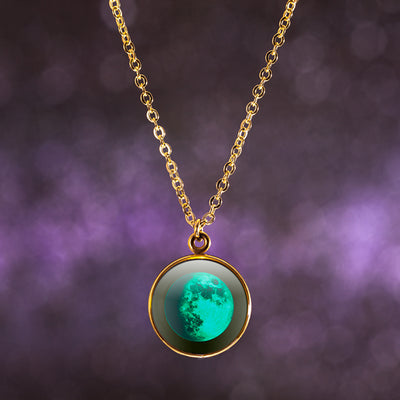 Waxing Gibbous II Gilded Luna Necklace