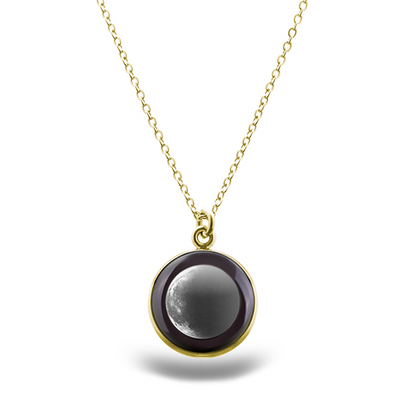 Waning Crescent II Gilded Luna Necklace