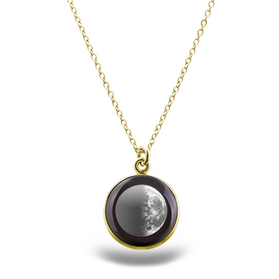 Last Quarter Gilded Luna Necklace