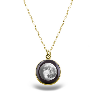 Waning Gibbous II Gilded Luna Necklace