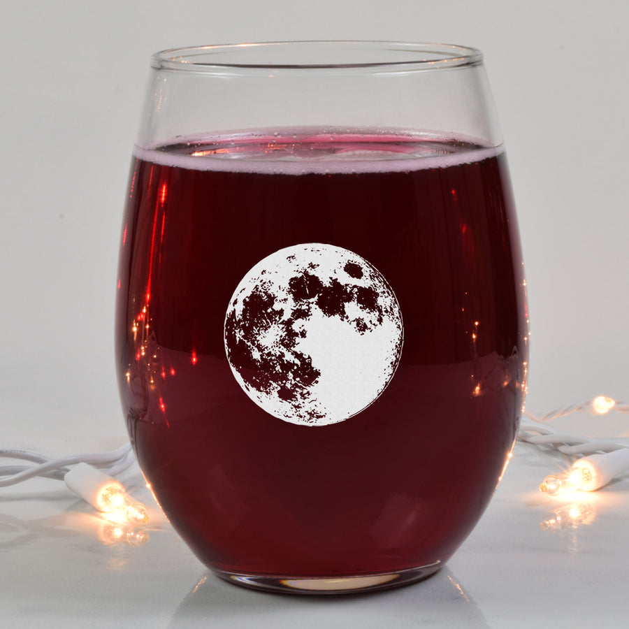 Moon Phase Wine Glass