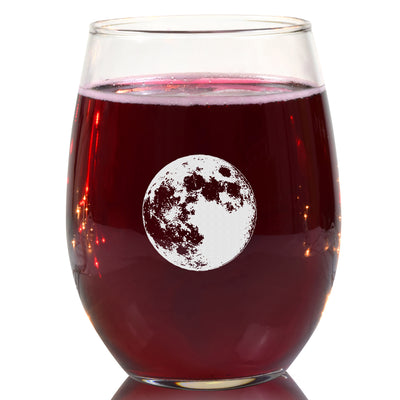 Full Moon Wine Glass