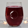 Waning Crescent II Wine Glass