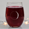 Waxing Crescent I Wine Glass