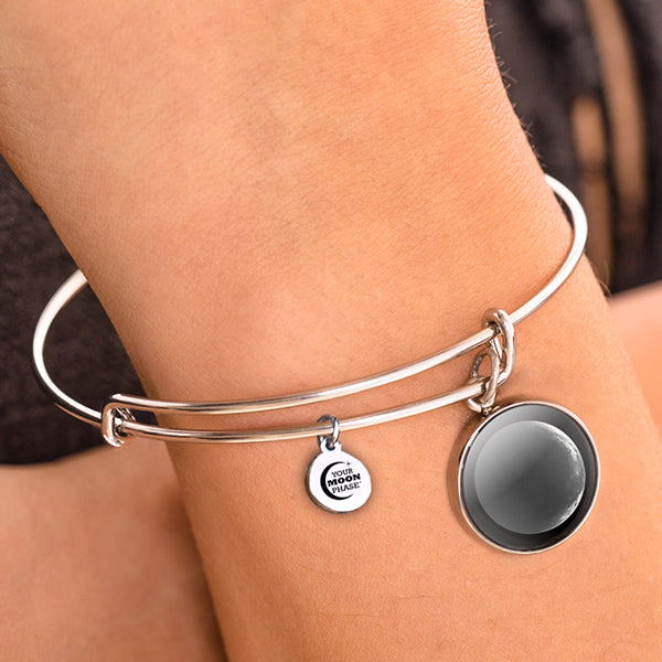 Waning Crescent III Luna Bangle Bracelet