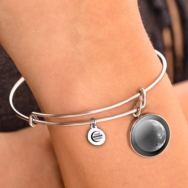 Waning Crescent I Moon Bangle Bracelet
