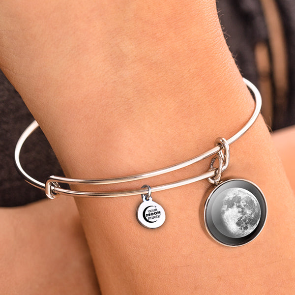Waning Gibbous II Moon Bangle Bracelet