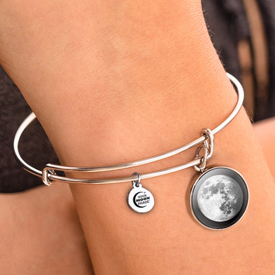 Waxing Gibbous III Moon Bangle Bracelet