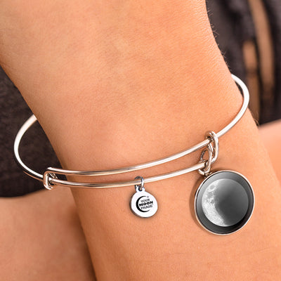Waxing Crescent III Moon Bangle Bracelet