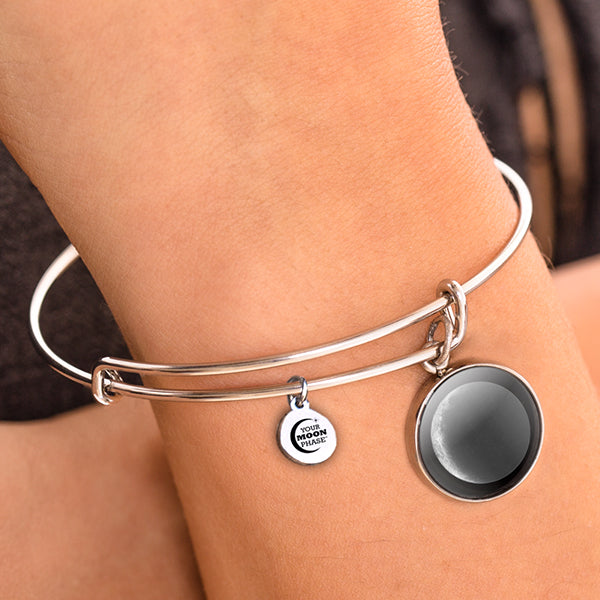 Waxing Crescent I Moon Bangle Bracelet