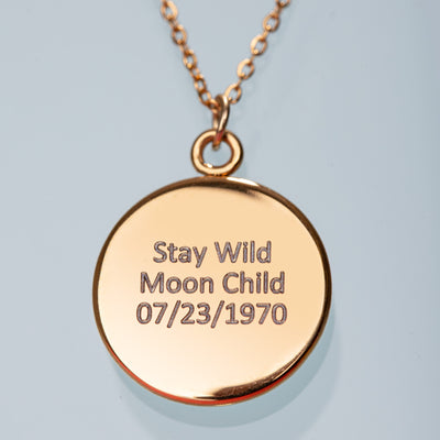 Waning Gibbous III Gilded Luna Necklace