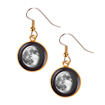 Waning Gibbous II Gilded Luna Earrings