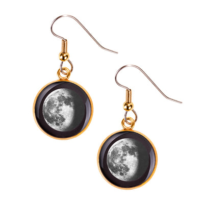 Waning Gibbous III Gilded Luna Earrings