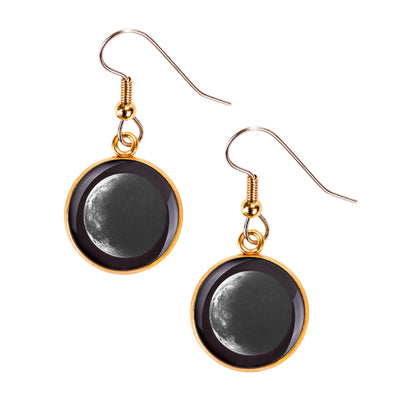 Waning Crescent II Gilded Luna Earrings