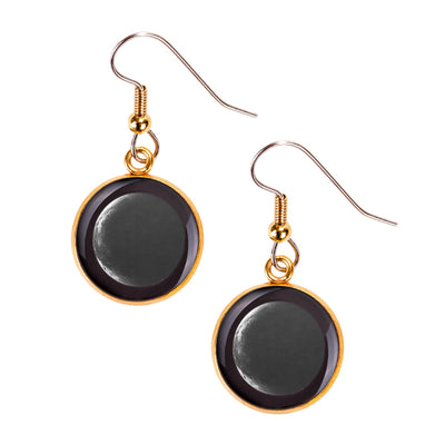 Waning Crescent III Gilded Luna Earrings