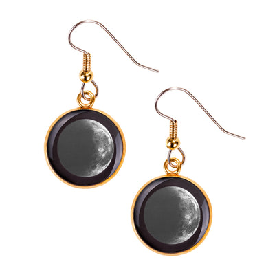 Waning Crescent I Gilded Luna Earrings