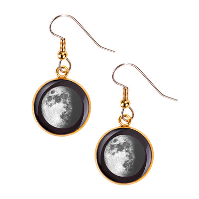 Waxing Gibbous I Gilded Luna Earrings