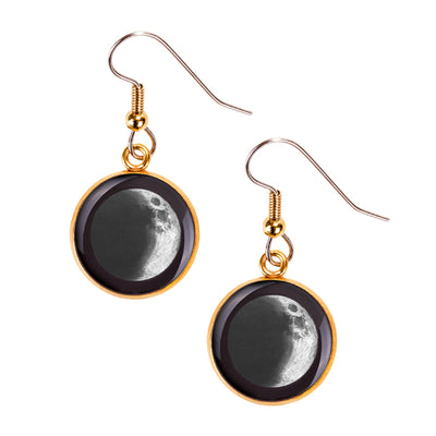 Waxing Crescent III Gilded Luna Earrings