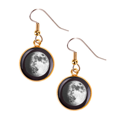 Waxing Gibbous II Gilded Luna Earrings