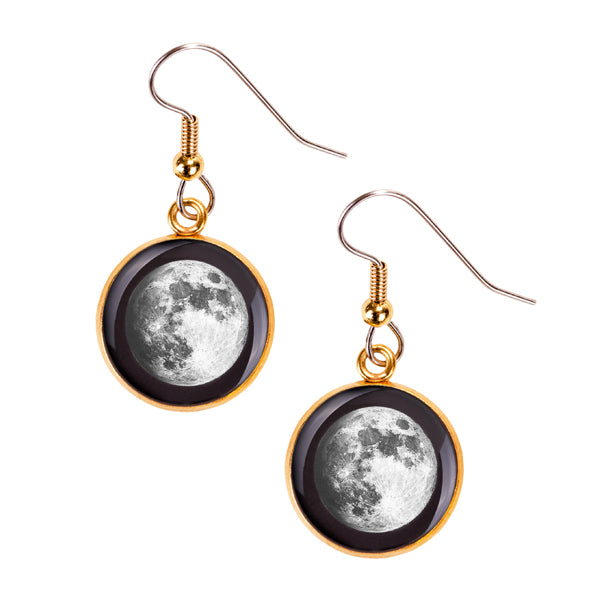 Waxing Gibbous III Gilded Luna Earrings