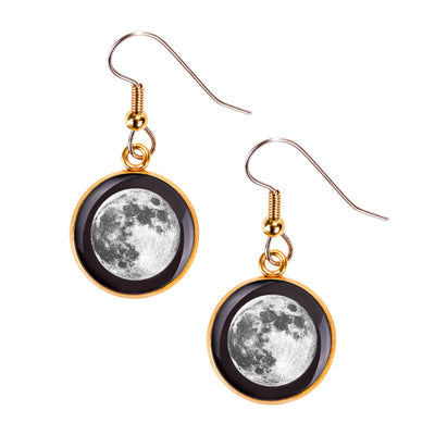Full Moon Gilded Luna Earrings