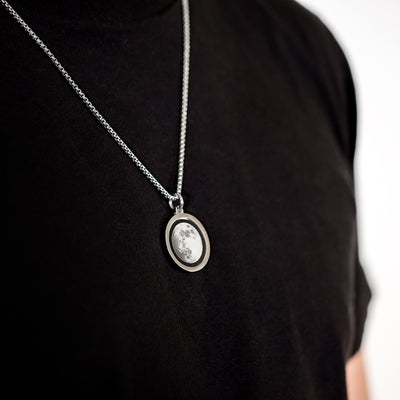 Waxing Gibbous III Gravity Necklace